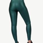 Leggings - GREEN GLOSSY