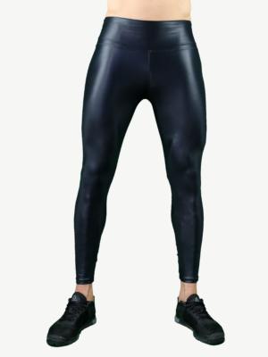Leggings - MEN - BLACK GLOSSY